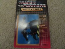 Vintage Transformers G1 Series 1 Action Cards by Milton Bradley 8 Pack MOC 1985