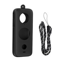 Soft Silicone Cover Housing for Insta360 ONE X2 Protective Shell (Black)