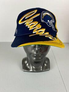 Vintage Team NFL San Diego Chargers Spellout Helmet Hat Snapback