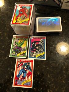 1990 Marvel Universe Series 1 Complete 1-162 Card Set With 5 Holograms