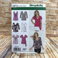 Simplicity 1916 Womens Plus Size Long Short Sleeve Sleeveless Blouse Sz 16 24