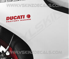 2x Ducati Factory Racing Premium Cast Decals Stickers Monster Panigale 916 120mm