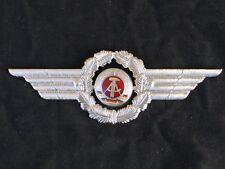 East German air force badge, militar peaked cap badge, uniform,NVA