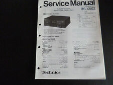 ORIGINALI service manual TECHNICS Cassette Deck rs-x502