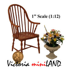 Windsor Chair for dollhouse miniature 1:12 scale Fine Quality wood handcraft