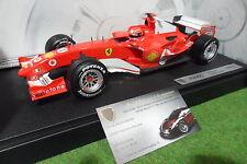 F1 FERRARI F2005 Michael SCHUMACHER GP ALLEMAGNE 1/18 HOT WHEELS G9727 formule 1