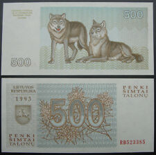 Lithuania Paper Money 500 Talonas 1993 UNC