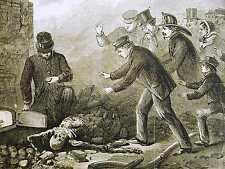 Brooklyn Parafine Paradine Oil Works EXPLOSION FIREMEN SKELETON 1868 Art Matted