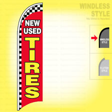 NEW USED TIRES - Windless Swooper Flag 2.5x11.5 ft Feather Banner Sign rb