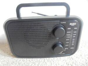 BUSH AM/FM Portable battery/mains Radio..see desc
