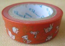 Washi Tape, 1 Roll, Shinzi Katoh Washi, Sereno, Animals Washi, 15mmx10m