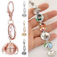 Creative Expanding Photo Locket Keyring Wing Pendant Key Chains Jewelry Gift