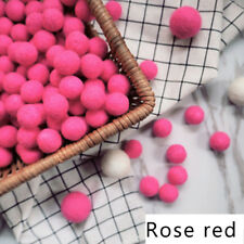 10PC/Set Pom Pom Wool Beads Supplies Felt Balls Nursery Christmas Douquet 2cm