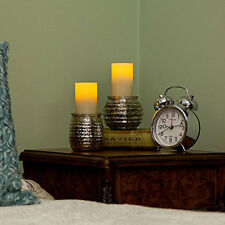 """Pacific Accents Set of 2 Large Wax Flameless LED Timer Votives Candle 2"""" x 3.5"""""""