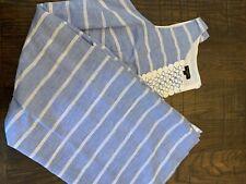TALBOTS 16W BLUE WITH WHITE STRIPES DRESS