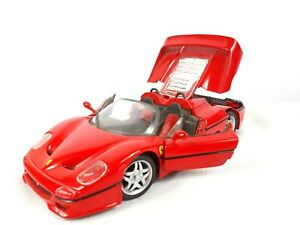 1995 MAISTO Ferrari F50 1:24 Diecast Scale Model Car Red No 454 with Stand Base