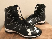 Youth Under Armour Highlight Jr Football Cleats Shoes 1269697-001 Size 4.5y