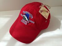 CARIBBEAN JOE Red Cotton Fishing Let Go Hat Ball Cap Mens Size OSFA NEW NWT