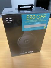 BEATS Solo Pro Wireless Bluetooth Noise Cancelling Headphones Black Sealed Box