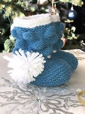 hand knitted Softwool booties/socks/ crib shoes baby boy/girl 0-6 Months