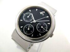 Auth agnes b V33J-6B50 Black Silver 951214 Women's Wrist Watch
