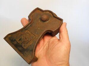 R.W. Co. Barn Door Roller, has patina