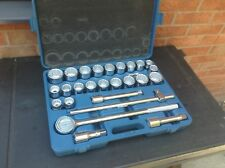 """Clarke CHT263 26 Piece 3/4"""" Drive Socket Set New Old Stock Metric  & Imperial"""