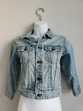 EUC GAP Kids Light Wash Blue Jean Jacket with Pockets Size S 6-7 100% Cotton