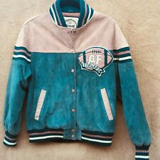 Outerbound Varsity leather Jacket pink and green pre owned size M