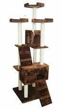 "72"" Cat Tree Play House Tower Condo Furniture Scratch Post Perch"