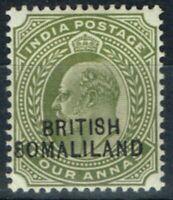 Somaliland 1904 4a Olive SG29Var 8 Pour S En 8omaliland Fin MTD Excellent État