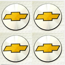 "4 New Wheel Center Cap Logo Sticker Decal Emblem 3.5"" 88mm Chevy Chevrolet (Fits: Chevrolet)"
