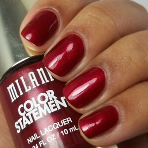 MILANI COLOUR STATEMENT NAIL POLISH / LACQUER - 43 RUBY STONE  FROM U.S.A