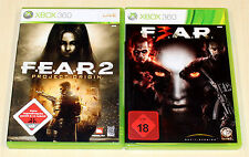 2 Xbox 360 juegos set-Fear 2 Project Origin & Fear 3 f3ar f e a r-Shooter