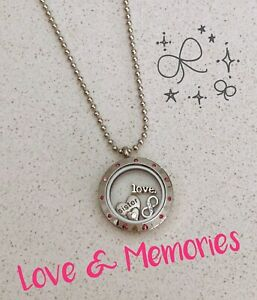 Memory Love Locket Floating Charms Special Sister Necklace Gift Set New