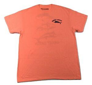 Worn Well Mens Great Catch Fishing Salmon Tee Shirt New M, L, XL, 2XL