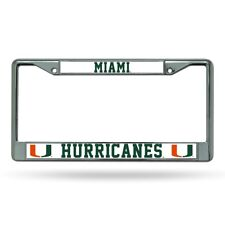 Miami Hurricanes~The U~Chrome Metal License Plate Frame