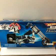 NEW RARE SEALED HOT WHEELS ADJUSTABLE CHROME CHOPPER 2 SCOOTER THROTTLE SOUND