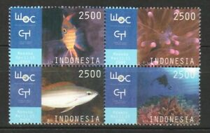 INDONESIA 2009 WORLD OCEAN CONFERENCE BLOCK COMP. SET OF 4 STAMPS IN MINT MNH