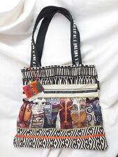 Laurel Burch Native Felines Tote Shoulder Bag NEW NWT Zippered Purse Canvas CATS