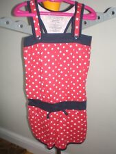 girl's faded glory short playsuit with shoulder straps 100% cotton age 6.