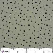 BLACK FLORAL/TRIANGLE ON WHITE - Civil War Fabric – FABRIC FQ