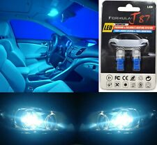 LED 5050 Light Icy Blue 8000K 168 Two Bulb License Plate Tag Replace OE SMD JDM