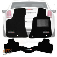 CHRYSLER 300C SRT8 Custom made Floor Mats Front+Rear Black SRT-8 LOGO 7/2012-19