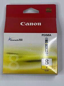 New Canon Cartridge Cli-8 Ylo Original Yellow CLI8Y