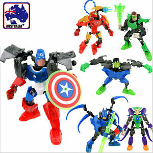 The Avengers Toys Model Block Captain America Hulk Batman Iron Man Hero GBLOG84