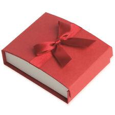 Écrin pour Parure ou Bracelet JONCS - ROUGE - Boite Cadeau Nœud Ruban - Bijoux