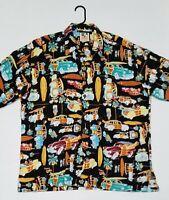 Kahala John Severson Mens XL Classic Car Woody Surf Hawaiian shirt