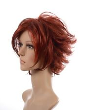 Sharron Wig | Short Natural Layered Spiky Texture Face Framing | Red & Blonde
