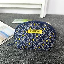 L'Occitane En Provence Blue Makeup Cosmetics Bag, Brand NEW!!